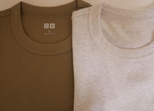 秋のインナーはユニクロのクルーネック半袖Tシャツがオススメ
