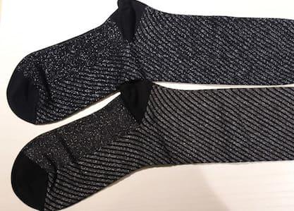 靴下はラメ入りがオススメ