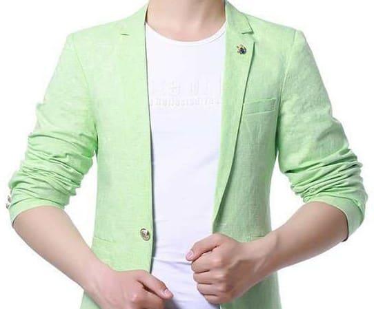 夏の男性ジャケット(緑)