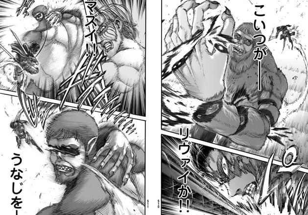 進撃の巨人リヴァイが強いシーン